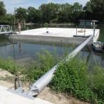 The floating platform is prepared for construction / Plávajúca konštrukcia je pripravená pre hornú stavbu