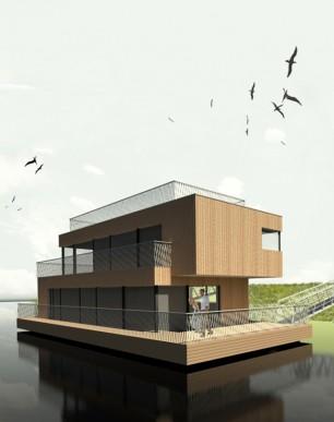 Floating house Csaba / Plávajúci dom Csaba